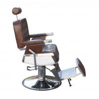 Scaun frizerie / barber chair CALABRIA RETRO, maro antique