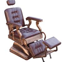 Scaun frizerie / barber chair SCALA RETRO, rosu inchis